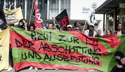 Demonstration in Würzburg