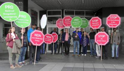Aktion am 17.5.2019 in Bonn