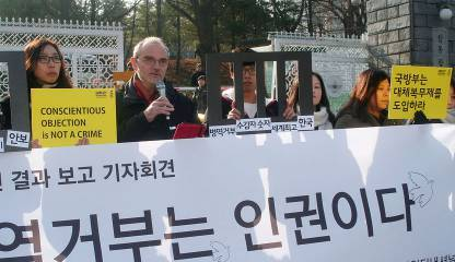 Rally to conscientious objection in Seoul